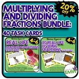 Multiplying and Dividing Fractions Task Card Bundle