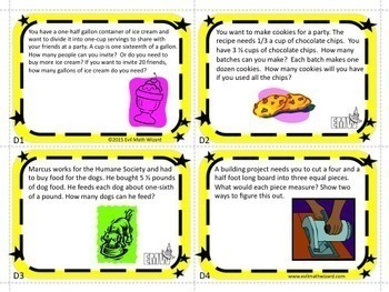 Multiplying and Dividing Fractions Task Card Bundle