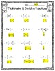 Multiplying and Dividing Fractions Test/Worksheet