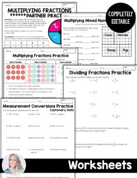 Multiplying and Dividing Fractions Unit