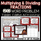 Multiplying and Dividing Fractions WORD PROBLEM Task Card Activity w/Recipe