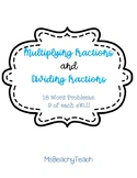Multiplying and Dividing Fractions Word Problems