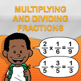 Multiplying and Dividing Fractions Worksheet Maker