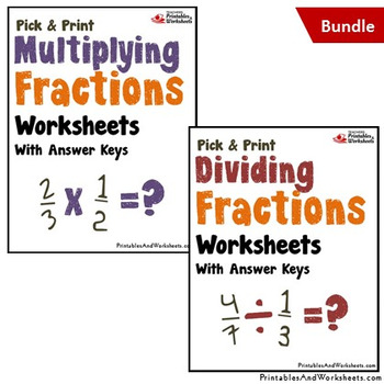 ... Multiplying And Dividing Fractions Worksheets With Answer Keys