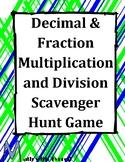 Decimal & Fraction Multiplication and Division Scavenger Hunt Game