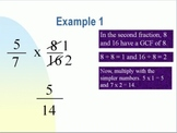Multiplying and Dividing Fractions and Mixed Numbers