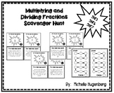 Multiplying and Dividing Fractions and Mixed Numbers Scavenger Hunt