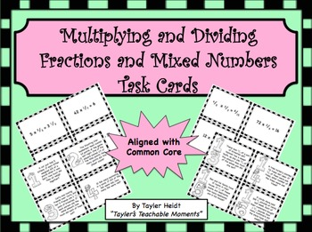 Multiplying and Dividing Fractions and Mixed Numbers Word