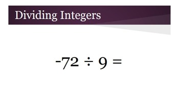 Multiplying and Dividing Integers Review
