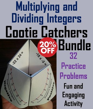 Multiplying and Dividing Integers Games Bundle for 6th 7th 8th Grade