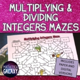 Multiplying and Dividing Integers Digital Activity