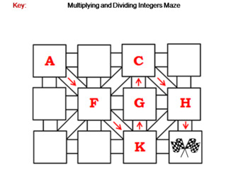Multiplying and Dividing Integers Activity: Math Maze
