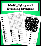 Multiplying and Dividing Integers Color Worksheet