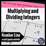 Multiplying and Dividing Integers Cut and Paste Activity