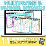 Multiplying and Dividing Integers Digital Interactive Math Notebook