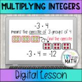 Multiplying and Dividing Integers Digital Lesson using Goo