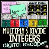 Multiplying and Dividing Integers Digital Math Escape Room