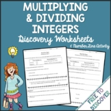 Multiplying and Dividing Integers Discovery Worksheets