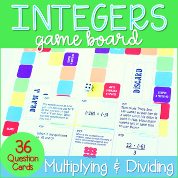 Multiplying and Dividing Integers Game Board ~Aligned to Common Core 7.NS.2~