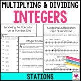 Multiplying and Dividing Integers Math Stations