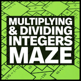 Multiplying and Dividing Integers Middle School Math Maze