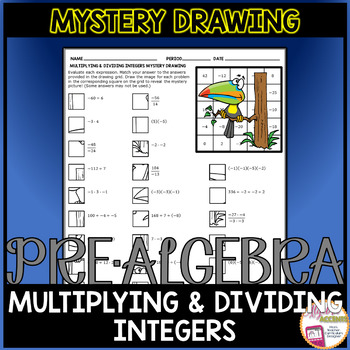 Multiplying and Dividing Integers Mystery Drawing