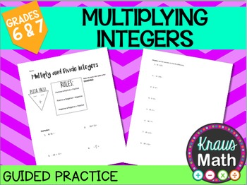 Multiplying and Dividing Integers Practice