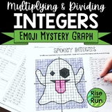 Multiplying and Dividing Integers Practice: Mystery Emoji Graph