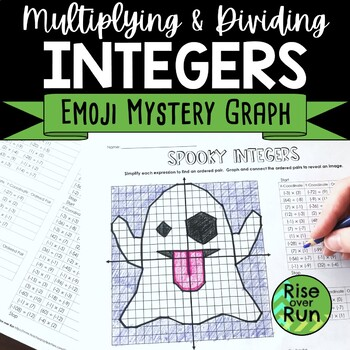 Halloween Math Activity, Multiplying and Dividing Integers Practice