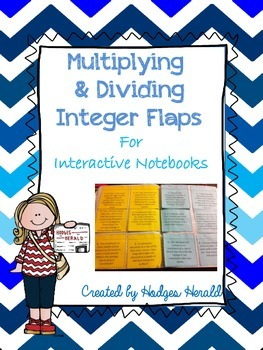 Multiplying and Dividing Integers Problem Solving Flaps