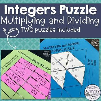 Multiplying And Dividing Integers Worksheet Teaching Resources ...