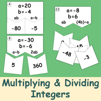 Multiplying and Dividing Integers (Puzzles)