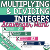 Multiplying and Dividing Integers Scavenger Hunt (Digital