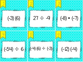 Multiplying and Dividing Integers Scoot