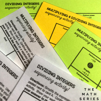 Integer Multiplication and Division Activity