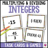 Multiplying and Dividing Integers Task Cards Middle School Math