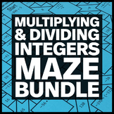 Multiplying and Dividing Integers - Three Mazes + Three Bo