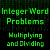 Multiplying and Dividing Integers Word Problems Multiple Choice