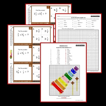Multiplying and Dividing Mixed Numbers Worksheets and Task Cards