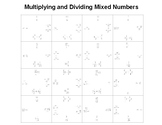 Multiplying and Dividing Mixed Numbers Positives Only