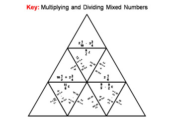 Multiplying and Dividing Mixed Numbers Game: Math Tarsia Puzzle