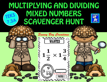 Multiplying and Dividing Mixed Numbers Scavenger Hunt
