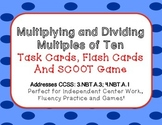 Multiplying and Dividing Multiples of Ten Task Cards, Flas