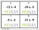 Multiplying and Dividing Negative Numbers Task Cards