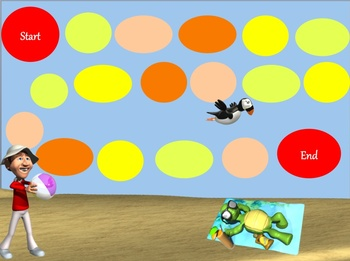 Multiplying and Dividing Numbers Board Game - Beach and Water Theme