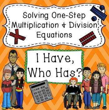 Multiplying and Dividing One Step Equations