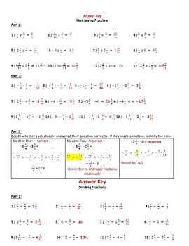 Multiplying and Dividing Positive and Negative Fractions ~ 7th Grade Math