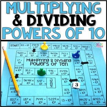 Multiplying and Dividing Powers of Ten Board Game