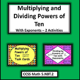 Multiplying and Dividing Powers of Ten Task Cards Bundle - 2 Activities