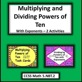 Multiplying and Dividing Powers of Ten Task Cards Bundle -